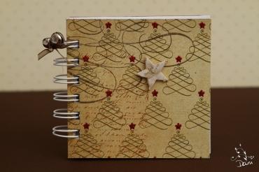 Notizzettel im Weihnachtslook
