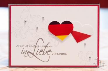 Hochzeitskarte Polen/Deutschland