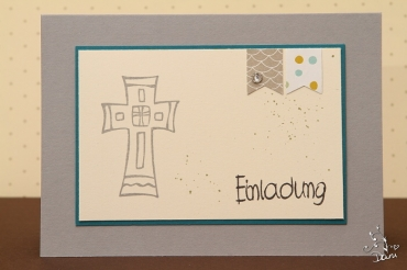 Einladung mit Kreuz