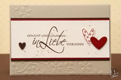 Hochzeitskarte Herzchen