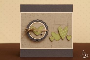 Herzchen in Mattgrün