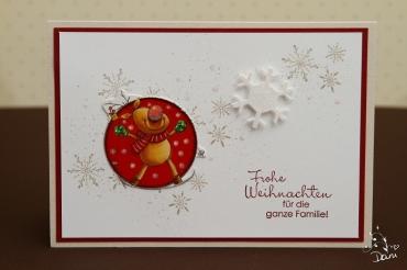 Weihnachtskarte Rudolf