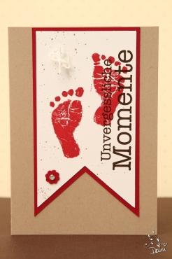Babykarte in Waldhimbeere