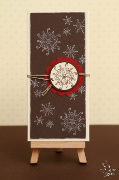 Kellnerblock mit Schneeflocken